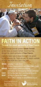 Poster for Faith in Action Workshop